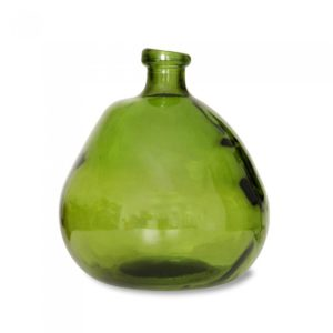 Vase Dickerchen grün/gelb